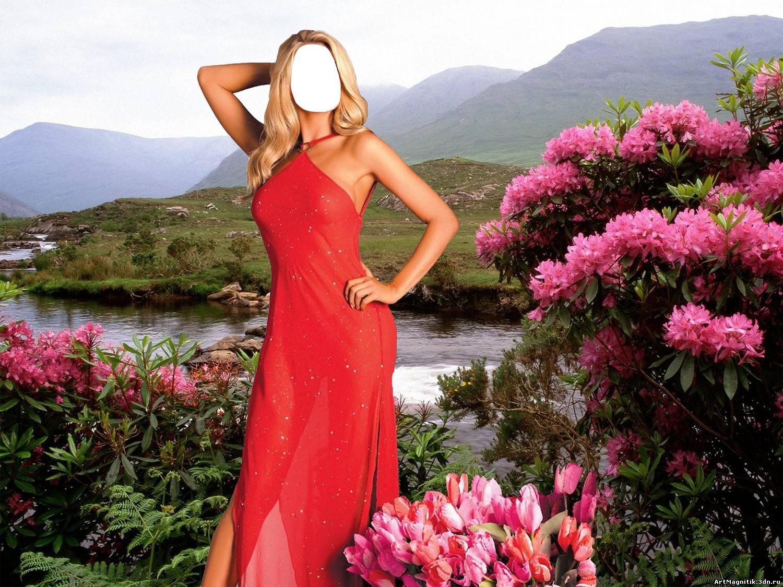 Фото девушке в платье вставили 23 фотография